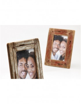 Wooden photo frame Dupla 15x20 cm white / natural