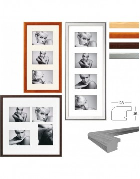 Wooden gallery frame BOLOGNA 10x15 cm, 13x18 cm