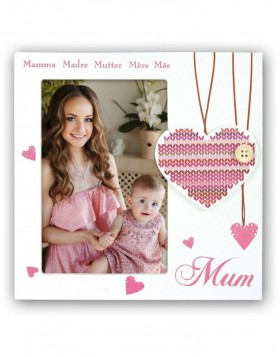 wooden photo frame MUM 10x15 cm