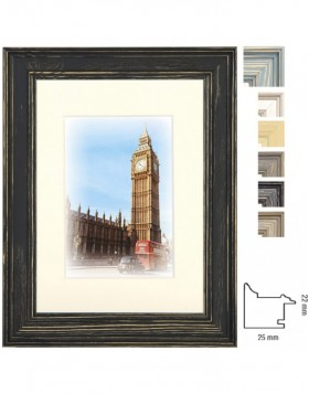 Capital London wooden frame with bevel cut mat