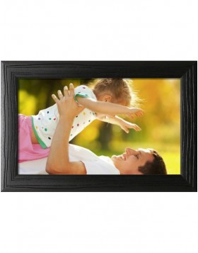 wooden frame H370 black 20x28 cm mirror glass