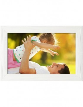 wooden frame H370 white 20x28 cm mirror glass