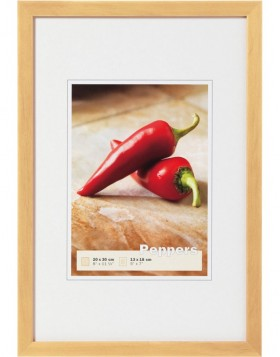 Peppers wooden frame 13x18 cm nature