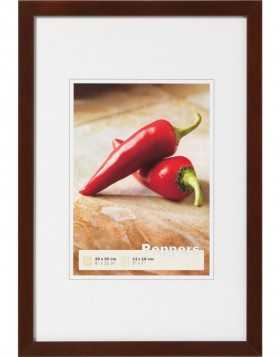 wooden frame Peppers 30x30 cm walnut