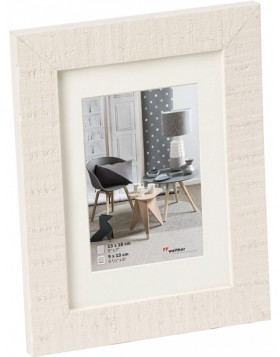 Home wooden frame 15x20 cm polar white
