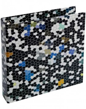black ring binder - Mosaik by Janina Lamberty
