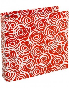 red ring binder - Rosen by Janina Lamberty