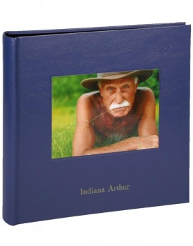 Photo album Kolara with picture & embossing 100 black sides