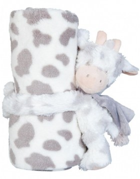 KT060.030 Clayre Eef plaid with plush cow bicoloured