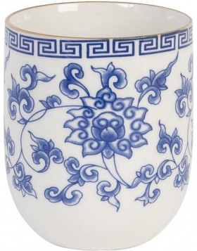 pottery cup blue by Clayre & Eef