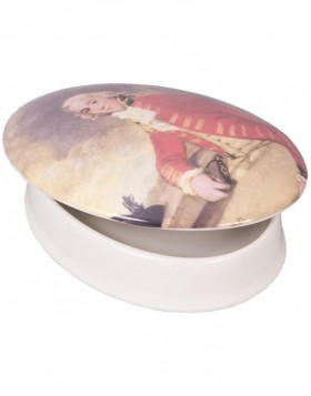 Ceramic jewelry box antique portrait 16x11,5x4,5 cm