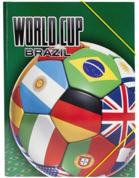 Kinder Sammelmappe A4 World Cup Brazil