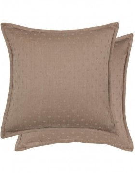 Cushion Dot Jacquard 40x40 cm brown