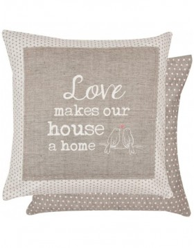 Pillow My Lovely Home 40x40 cm gray