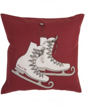 Pillow skates red unfilled 50x50 cm
