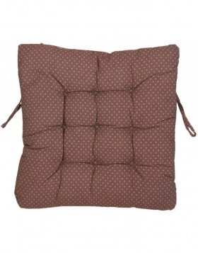 pillow with foam material brown - KT029.008 Clayre Eef