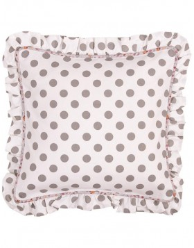Pillowcase white gray dots
