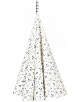 K�chentuch � 80 cm Just Check Flower blau