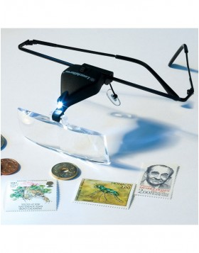 LED light magnifying lens glasses with 3 different...