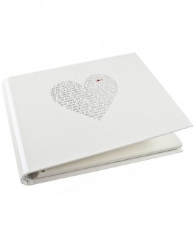LOVE spiral bounded photo album white