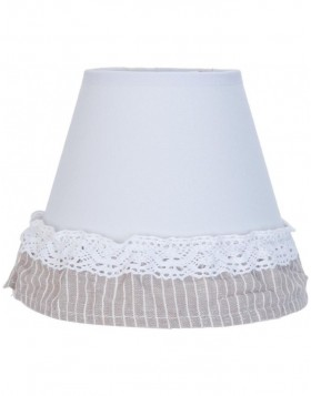 lamp shade 6LAK0334 Clayre Eef - white