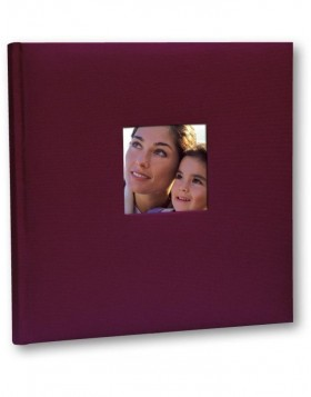 Linen Photo Album Velina 24 x 24 cm bordeaux