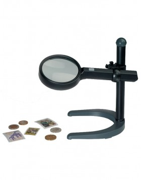Illuminated Magnifier with stand, 2.5x magnification,...
