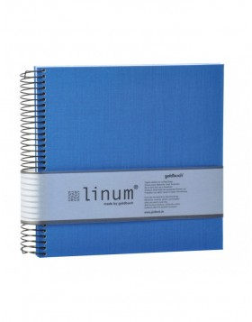 Spiral bound note pad in blue Linum