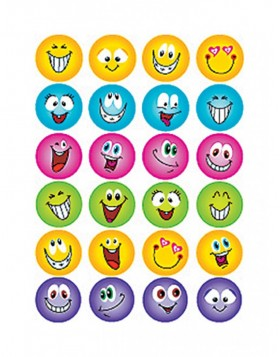 Decorative label MAGIC faces, glittery 1 sheet