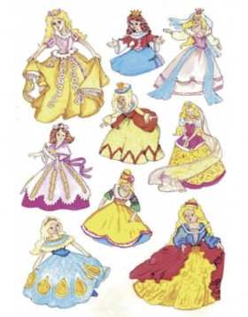 MAGIC decorative stickers princesses, jewel, 1 sheet