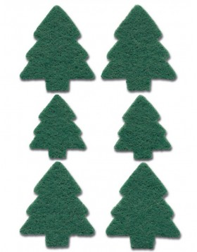 Decorative label MAGIC Christmas trees, felt 1 sheet