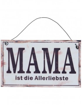 MAMA tin-plate white - 6Y1329D Clayre Eef