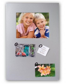 Magnetic board with photo window 20x25 cm