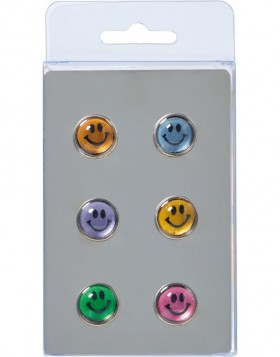 Magnete SMILEY 6 St�ck farbig
