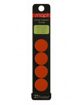 Magnete SNAP COLOR stark 4er Packung in orange
