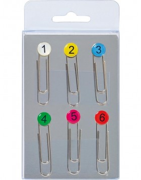 6 pieces magnets NUMBERS coloured