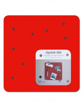 Magneticboard SQUARE DOT 30 cm in red
