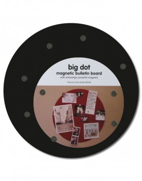 Black magnetic board Big Dot 9
