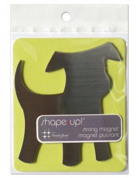 Metalmagnet dog from the SHAPE UP series 10x10 cm