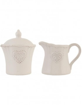 milk jug and sugar bowl HEART