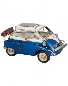 Modell eines BMW Isetta Bubble Car 26x13x13 cm blau