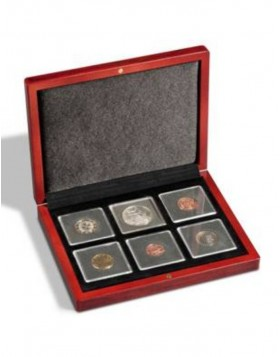 Coin case Volterra for 6  Quadrum coin capsules