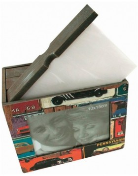 Mustang wood photo box 48 photos 10x15 cm