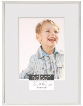 Nielse alu frame C2 Soft Frosted Silver 13x18 cm