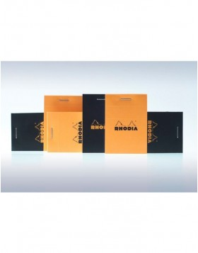 stapled notepad and microperforated Rhodia, 5.2 x 7.5 cm,...