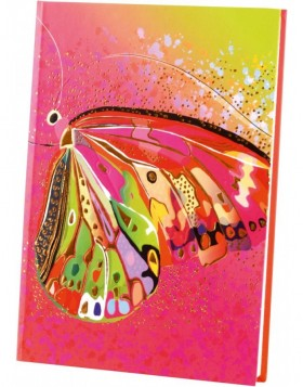 Notebook A5 Flower pink Butterfly