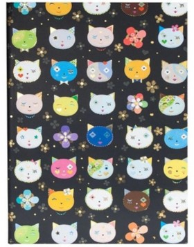 Notizbuch DIN A5 CATS BLACK