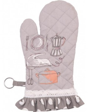Ofenhandschuh Kitchen Princess grau