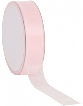 Organza Band 50 Meter x25 mm rose