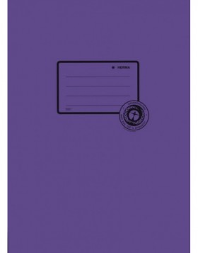Exercise book cover paper A4 violet 100% wastepaper